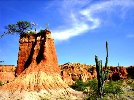 Desierto de la Tatacoa en Colombia