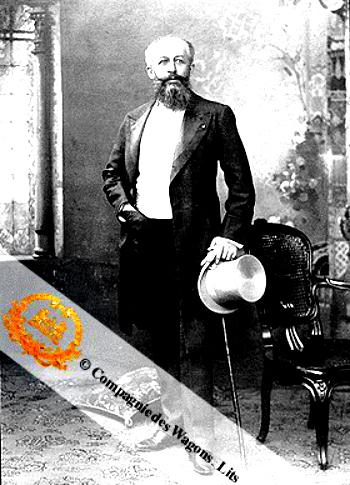 Georges Nagelmackers, el belga que creó la empresa- Foto obtenida de: http://wagonslits.blogspot.com.es/2010/10/georges-nagelmacker-asi-empezo-todo.html