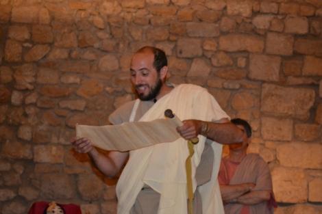 Romano declamando en el Festival Tarraco Viva - Tarragona